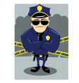 Policeman and Crime Scene vector image