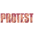 Protest sign vector image vector image