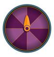 purple wheel fortune icon cartoon style vector image