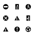 road element icon set vector image vector image