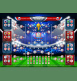 scoreboard world soccer 2018 in russia vector image vector image