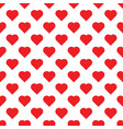 seamless pattern with hearts big red hearts on vector image vector image