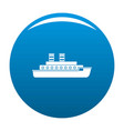 steamship icon blue vector image