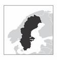 sweden dark silhouette vector image