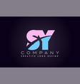 sy alphabet letter join joined letter logo design vector image vector image