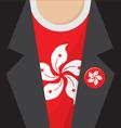 T-Shirt With Hong Kong Flag vector image vector image