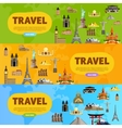 Travel the world Monument concept Road trip vector image