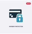 two color payment protection icon from insurance vector image vector image