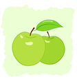 two green apples vector image vector image