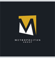 unusual m logo vector image