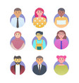 user avatar set flat color style different vector image