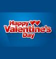 valentine day sticker vector image
