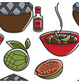 vietnamese cuisine or food dishes and fruits vector image vector image