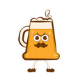 vintage angry beer cartoon character vector image