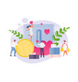 volunteering and charity vector image