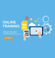 web page designs for online training education vector image