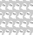 White funny ghost seamless pattern backgrounds for vector image vector image