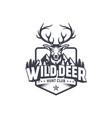 wild deer vintage logo badge vector image