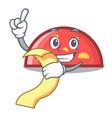 with menu semicircle mascot cartoon style vector image