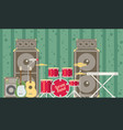 musical instruments flat vector image