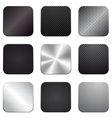 Apps metal-carbon icon set vector image