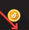 bitcoin rate drop concept vector image