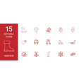 15 winter icons vector image vector image