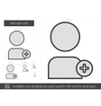 Add user line icon vector image vector image