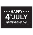 america usa happy independence day poster vector image vector image