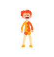 angry red haired clown cartoon character man in vector image