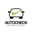 Auto Car Check Design vector image vector image
