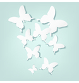 background with cutout butterflies vector image