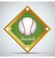 Ball of baseball sport design vector image vector image