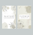 banners design abstract nature floral background vector image