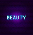 beauty neon text vector image vector image