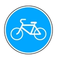 bicycle round sign vector image vector image