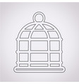 bird cage icon vector image