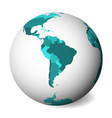 blank political map of south america 3d earth vector image vector image