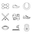bodily icons set outline style vector image vector image