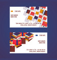 book store set business cards vector image