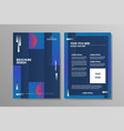 brochure template flyer background vector image