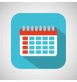 calendar cartoon date day shadow and blue vector image