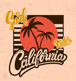 california surf rider poster template vector image vector image