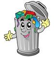cartoon trash can vector image