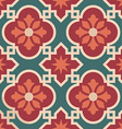 Ceramic Moroccan mosaic tile pattern with flower vector image vector image