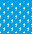 cloud and hail pattern seamless blue vector image vector image
