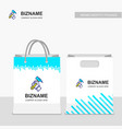 company shopping bags design with gear logo vector image