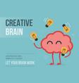 creative brain eps 10 vector image