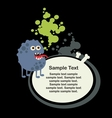 Cute monster with banner vector image vector image