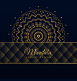 dark luxury mandala pattern background vector image vector image
